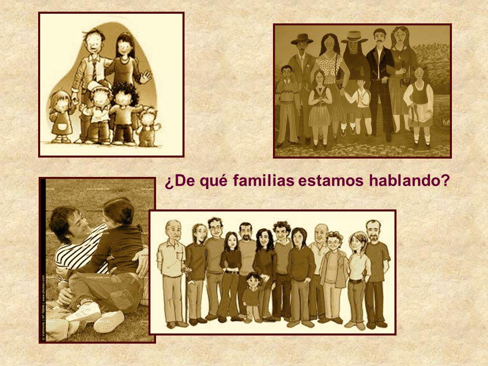 ¿De qué familias estamos hablando?