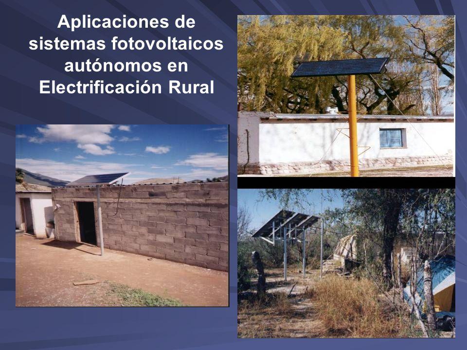 Aplicaciones de sistemas fotovoltaicos autónomos en Electrificación Rural