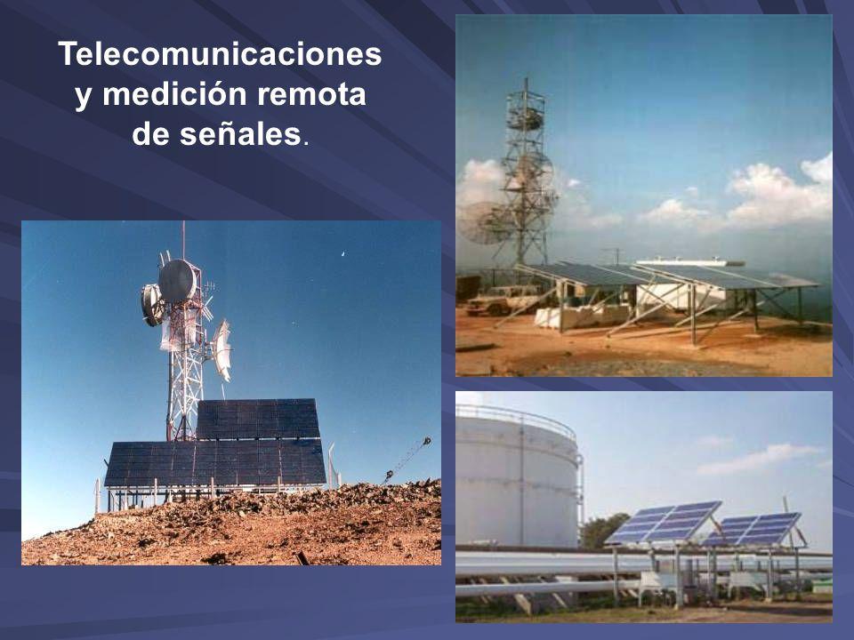 Telecomunicaciones y medición remota de señales.
