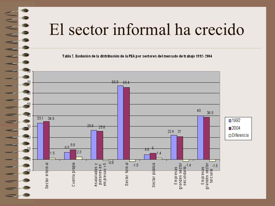 El sector informal ha crecido