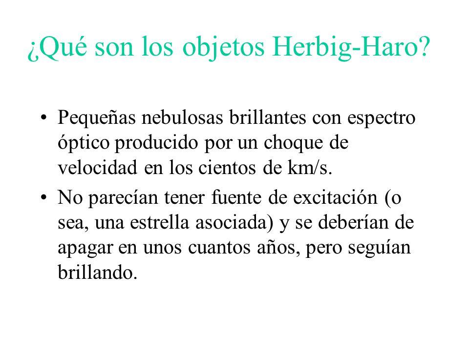 ¿Qué son los objetos Herbig-Haro.