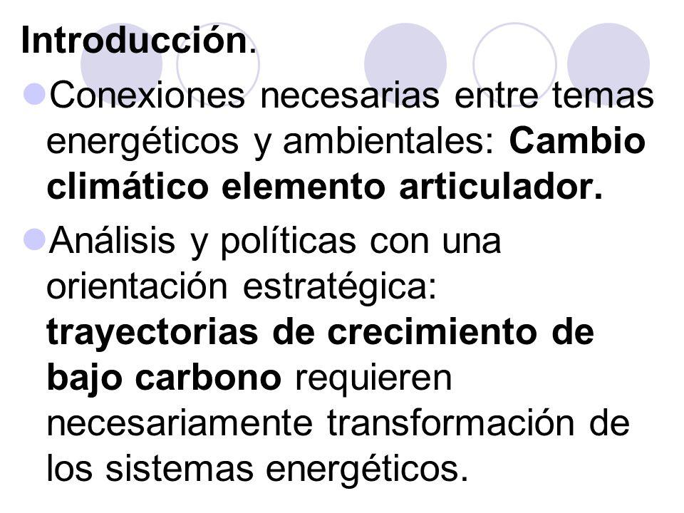 1 – Los sistemas energéticos y sus transformaciones.