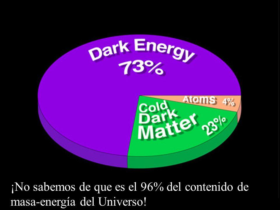¡No sabemos de que es el 96% del contenido de masa-energía del Universo!