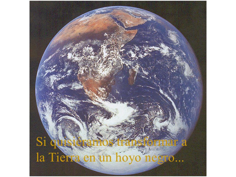 Si quisiéramos transformar a la Tierra en un hoyo negro...