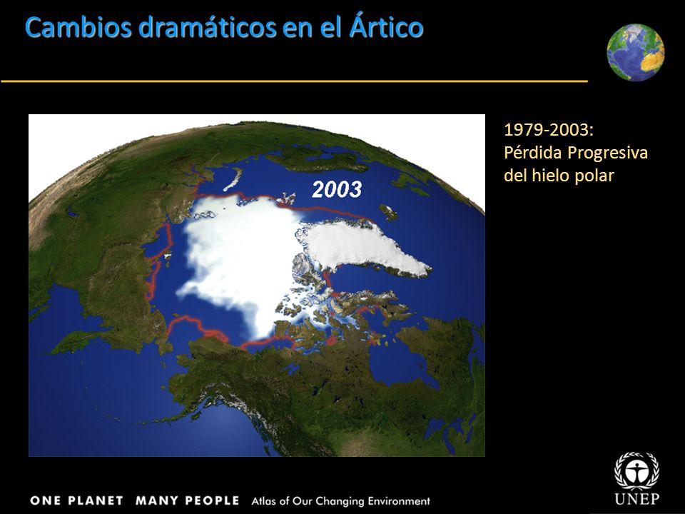 Title Body text Cambios dramáticos en el Ártico 1979-2003: Pérdida Progresiva del hielo polar