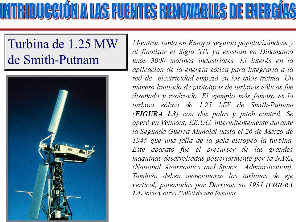 La velocidad de viento en cualquier sitio dado es muy inconstante, por lo tanto la potencia eólica lo es también.