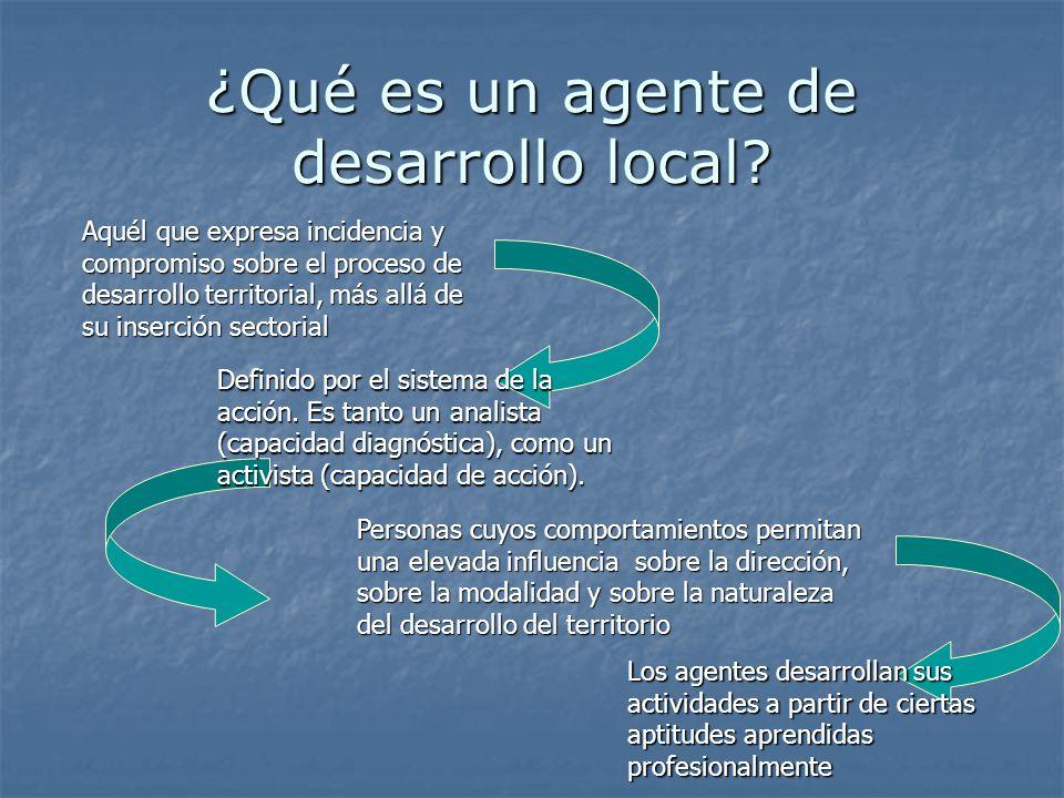 ¿Qué es un agente de desarrollo local.