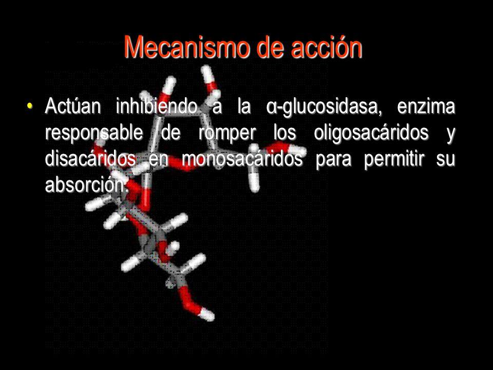 SACAROSA Sitio de acción de la α-glucosidasa