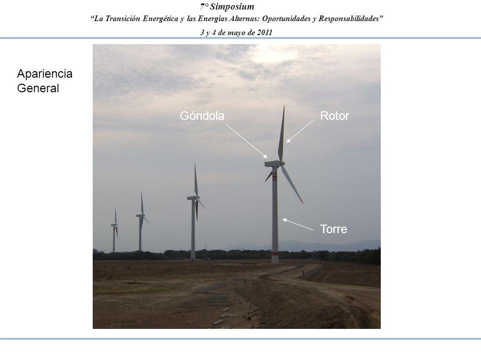 La Transición Energética y las Energías Alternas: Oportunidades y Responsabilidades 3 y 4 de mayo de 2011 7° Simposium Apariencia General RotorGóndola