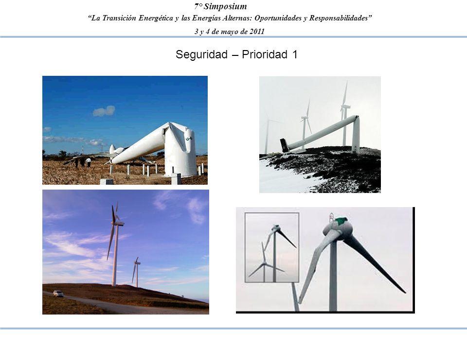 La Transición Energética y las Energías Alternas: Oportunidades y Responsabilidades 3 y 4 de mayo de 2011 7° Simposium Seguridad – Prioridad 1