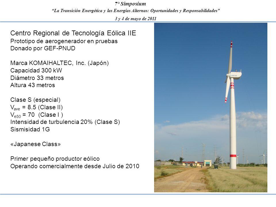 La Transición Energética y las Energías Alternas: Oportunidades y Responsabilidades 3 y 4 de mayo de 2011 7° Simposium Centro Regional de Tecnología E