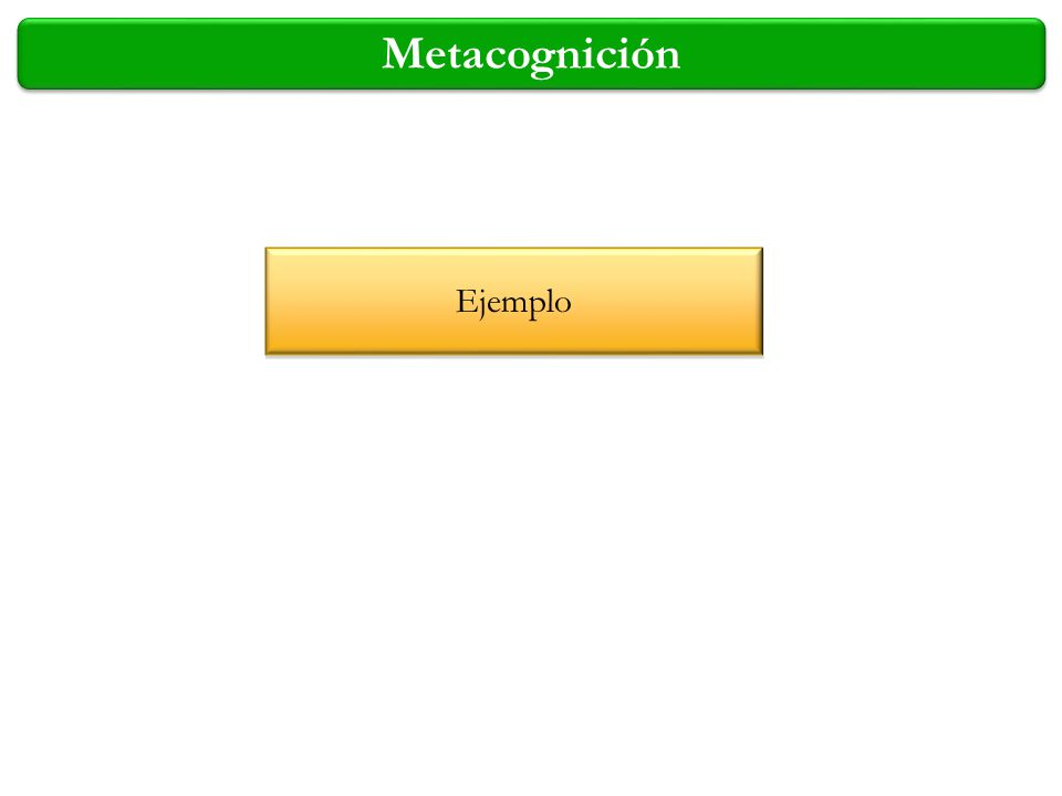 Metacognición Ejemplo