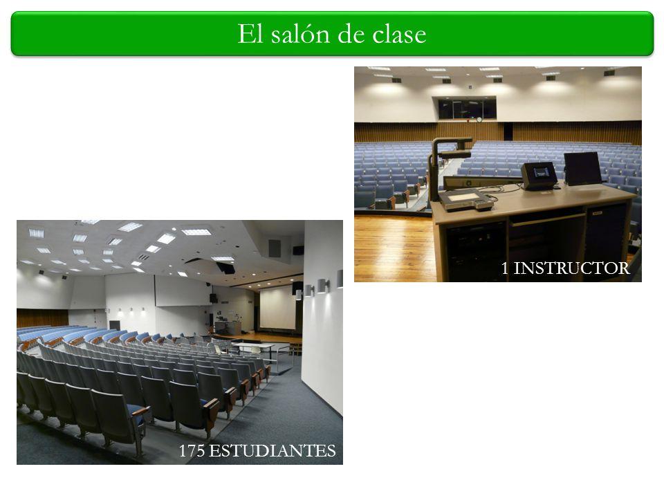 El salón de clase 175 ESTUDIANTES 1 INSTRUCTOR