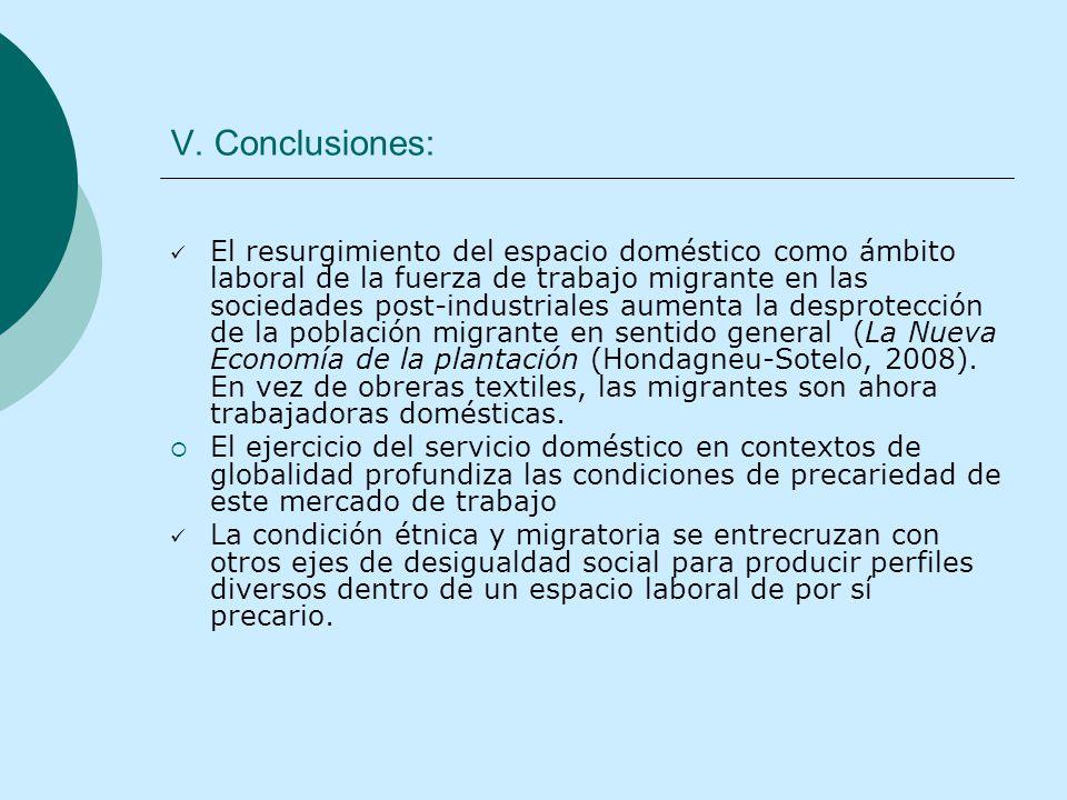 V. Conclusiones: El resurgimiento del espacio doméstico como ámbito laboral de la fuerza de trabajo migrante en las sociedades post-industriales aumen