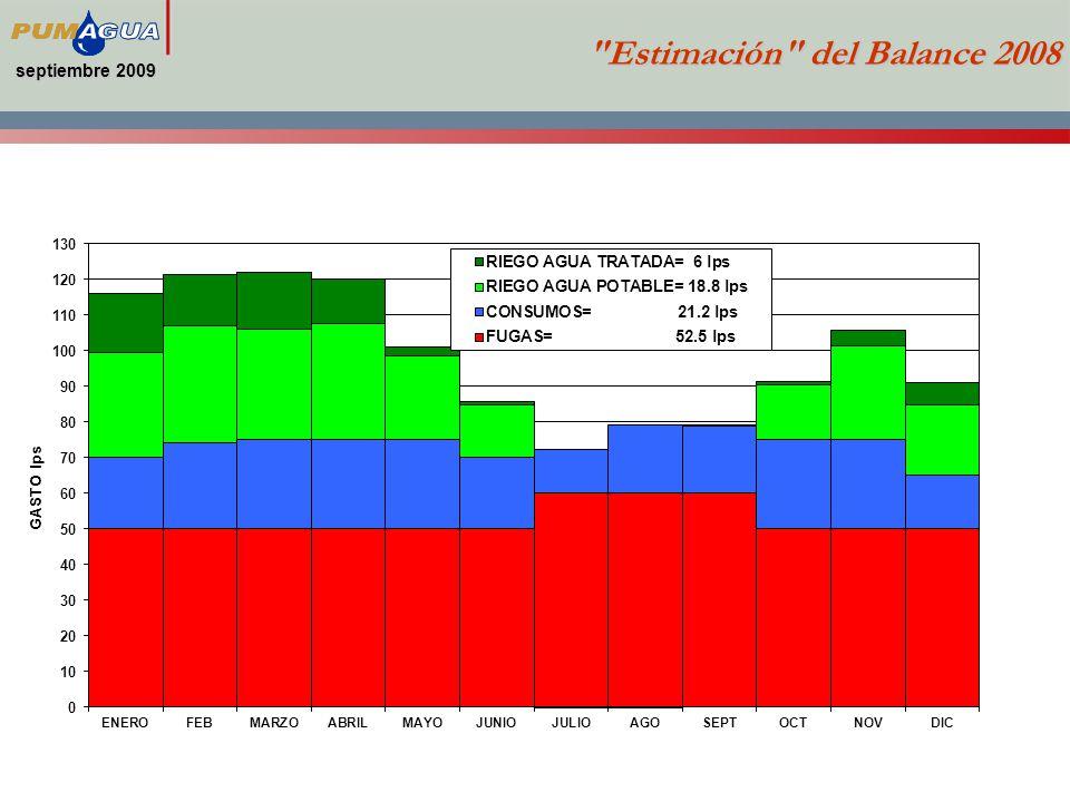 septiembre 2009 Estimación del Balance 2008