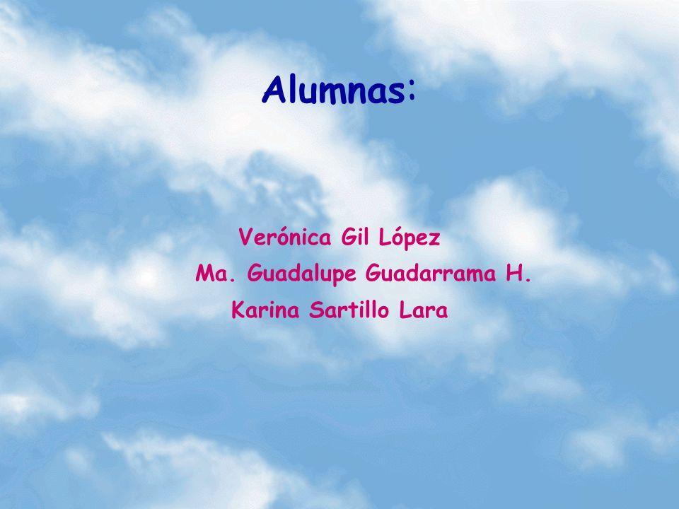 Alumnas : Verónica Gil López Ma. Guadalupe Guadarrama H. Karina Sartillo Lara