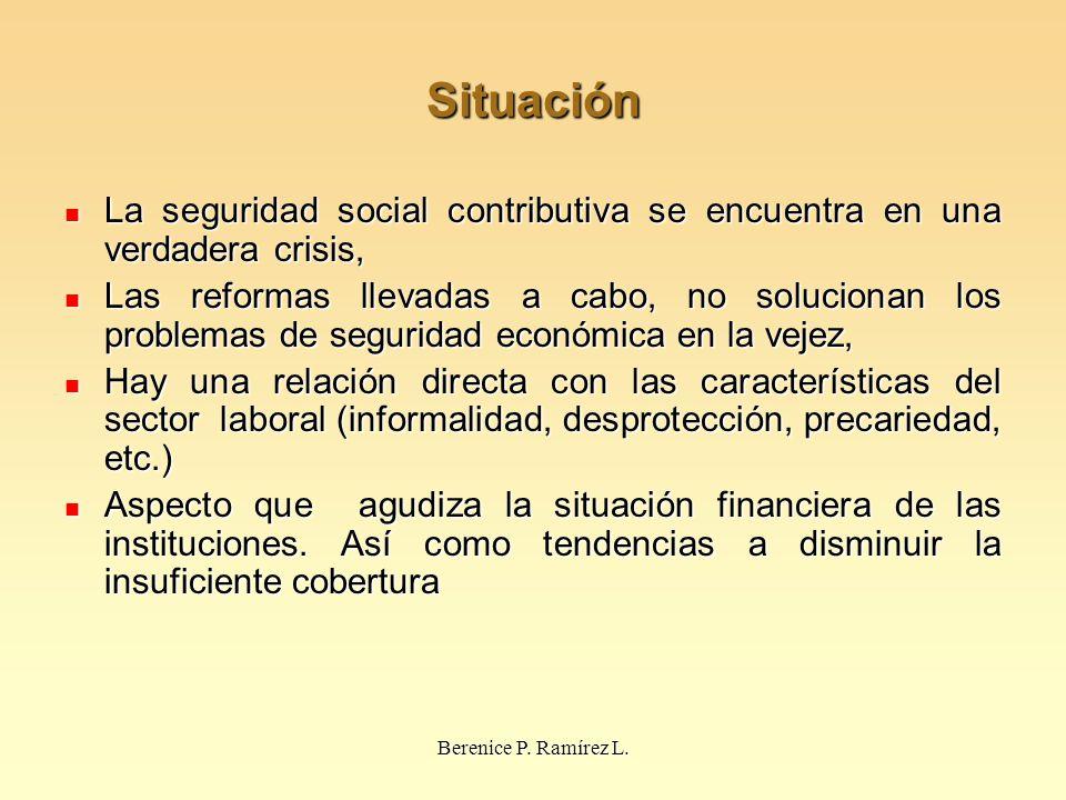 Situación La seguridad social contributiva se encuentra en una verdadera crisis, La seguridad social contributiva se encuentra en una verdadera crisis