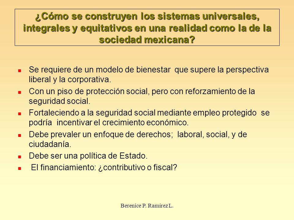 ¿Cómo se construyen los sistemas universales, integrales y equitativos en una realidad como la de la sociedad mexicana? Se requiere de un modelo de bi