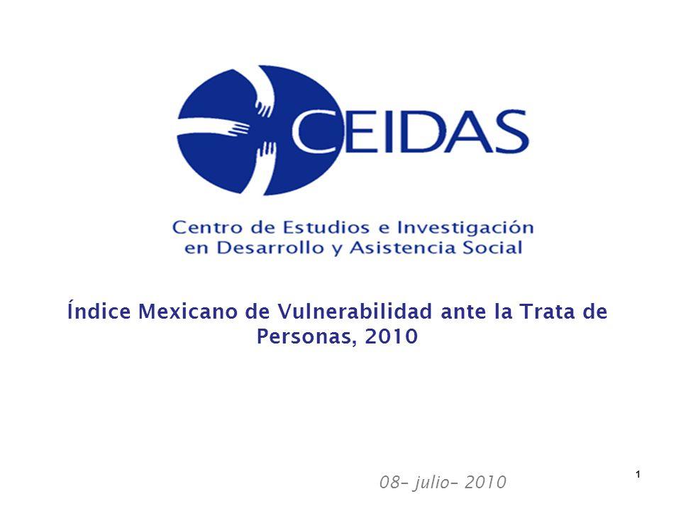 08– julio– 2010 1 Índice Mexicano de Vulnerabilidad ante la Trata de Personas, 2010