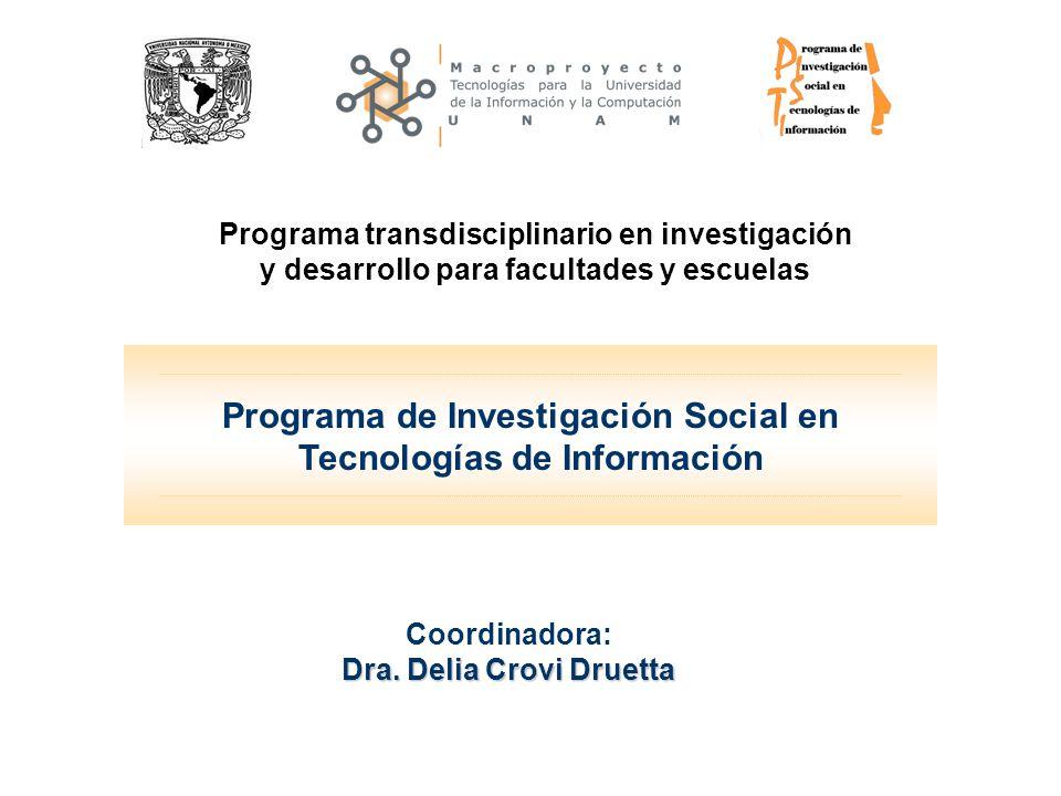 Programa de Investigación Social en Tecnologías de Información Coordinadora: Dra.
