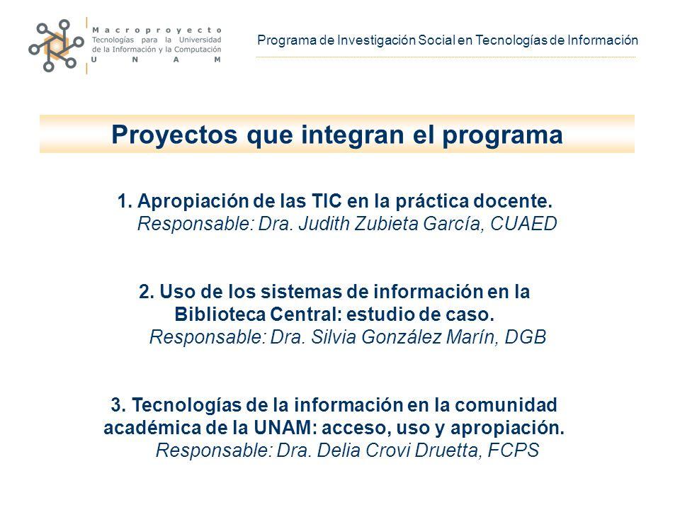 1. Apropiación de las TIC en la práctica docente.