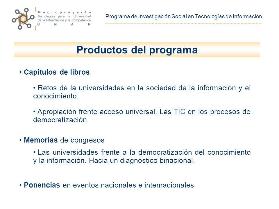 Capítulos de libros Retos de la universidades en la sociedad de la información y el conocimiento.