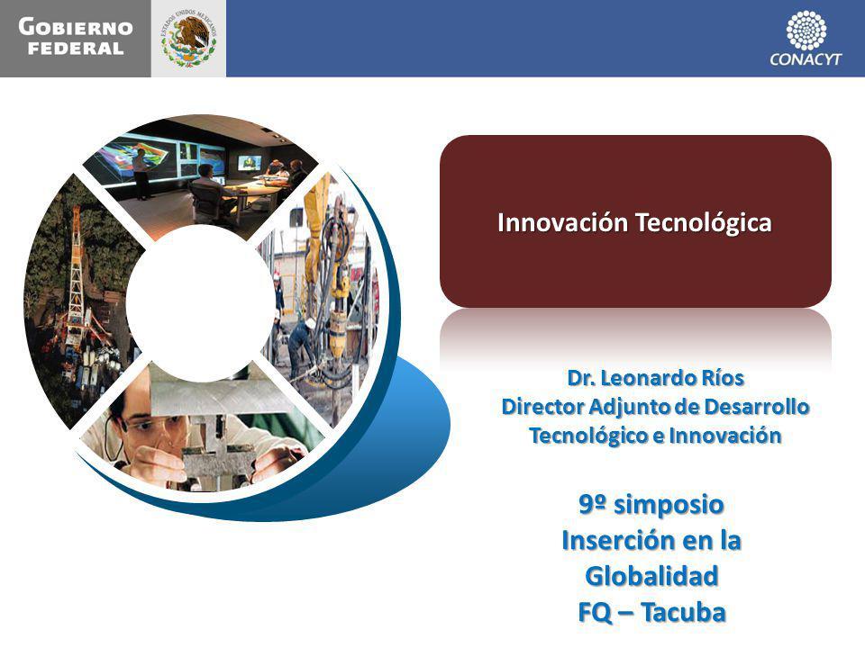 Dr. Leonardo Ríos Director Adjunto de Desarrollo Tecnológico e Innovación 9º simposio Inserción en la Globalidad FQ – Tacuba
