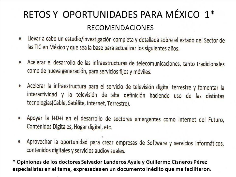 * * Opiniones de los doctores Salvador Landeros Ayala y Guillermo Cisneros Pérez especialistas en el tema, expresadas en un documento inédito que me f