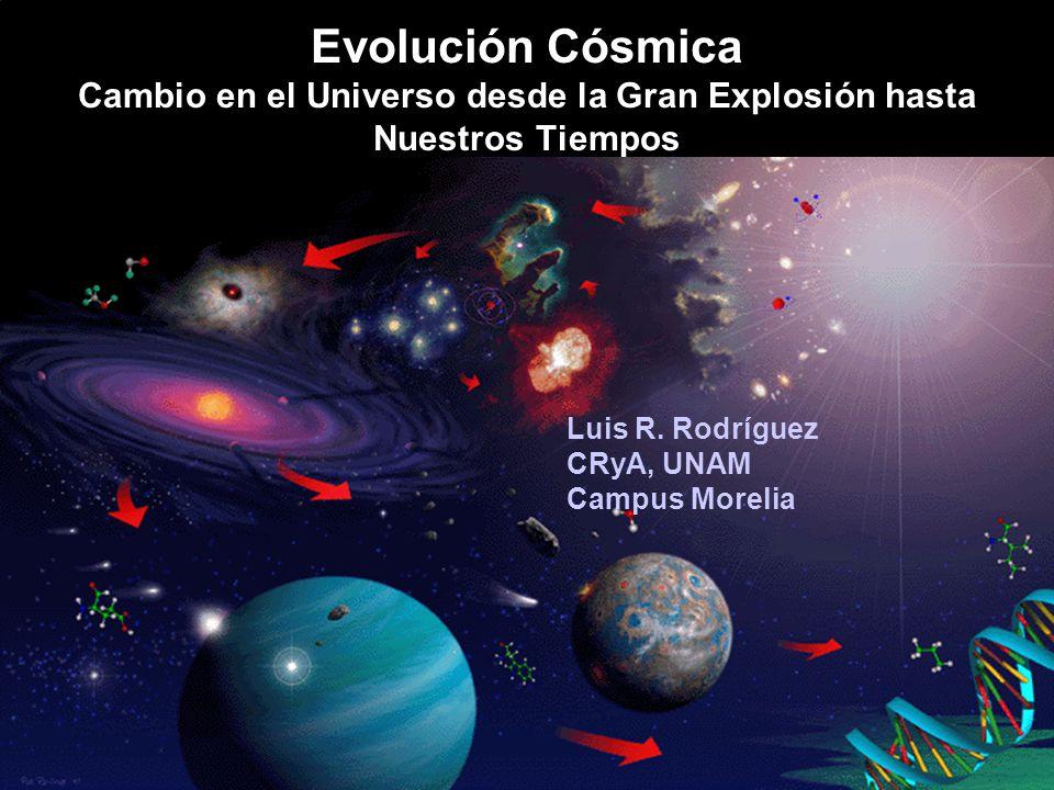 Evolución Cósmica Cambio en el Universo desde la Gran Explosión hasta Nuestros Tiempos Luis R.
