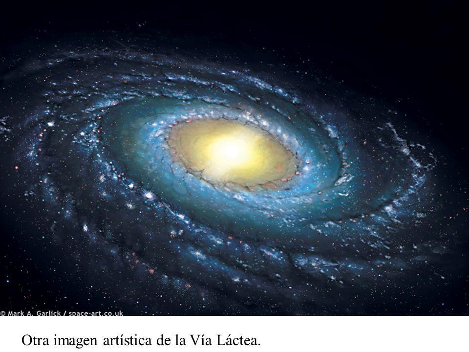 Imagen artística de la Vía Láctea
