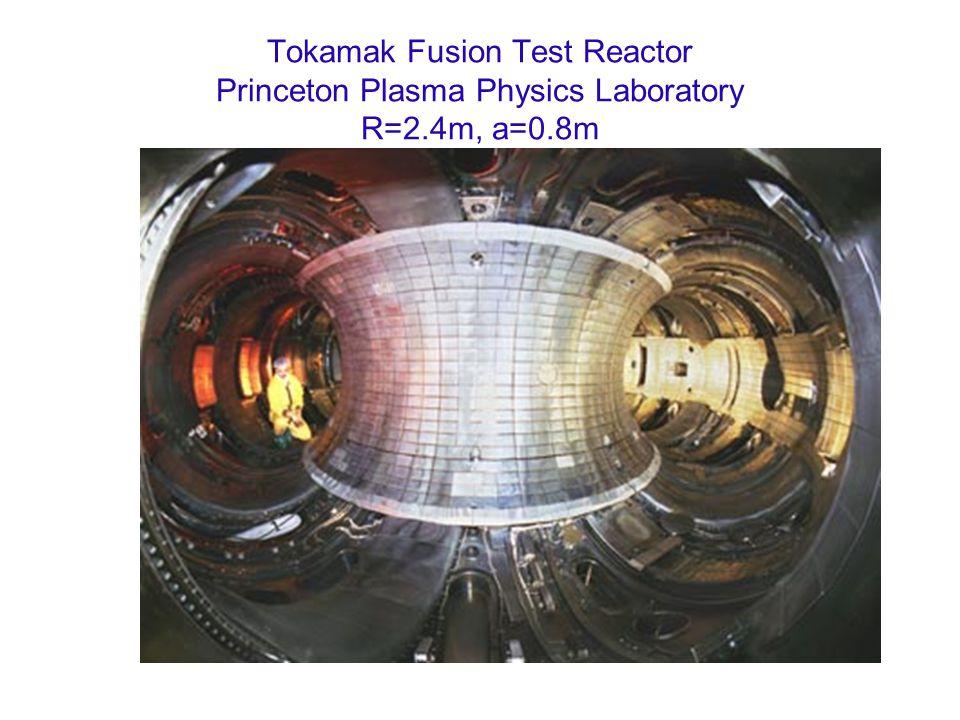 Tokamak Fusion Test Reactor Princeton Plasma Physics Laboratory R=2.4m, a=0.8m