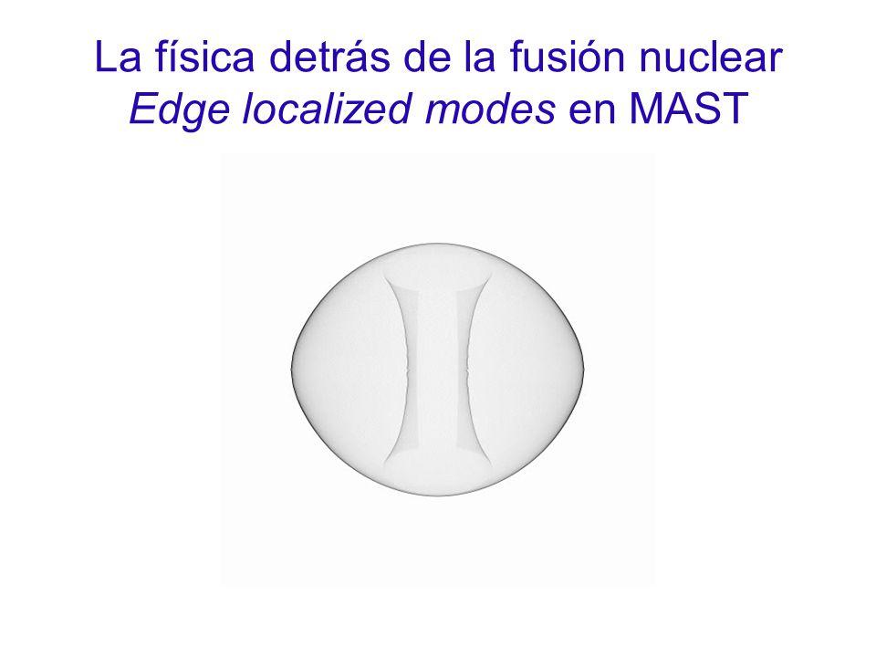 La física detrás de la fusión nuclear Edge localized modes en MAST