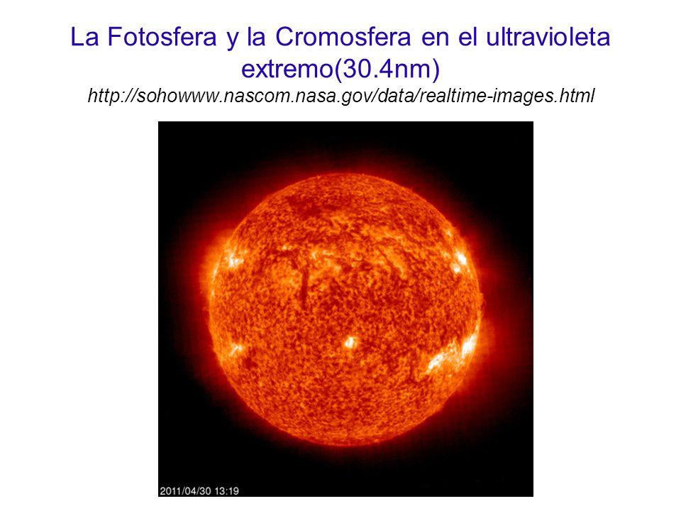 La Fotosfera y la Cromosfera en el ultravioleta extremo(30.4nm) http://sohowww.nascom.nasa.gov/data/realtime-images.html