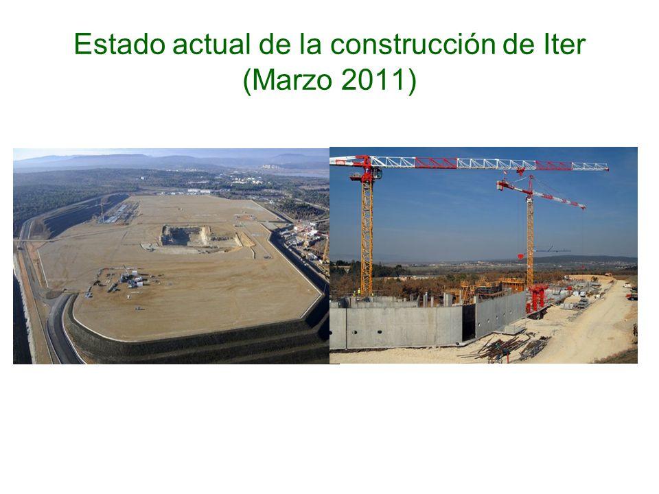 Estado actual de la construcción de Iter (Marzo 2011)