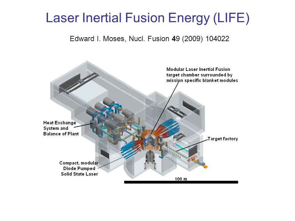 Laser Inertial Fusion Energy (LIFE) Edward I. Moses, Nucl. Fusion 49 (2009) 104022