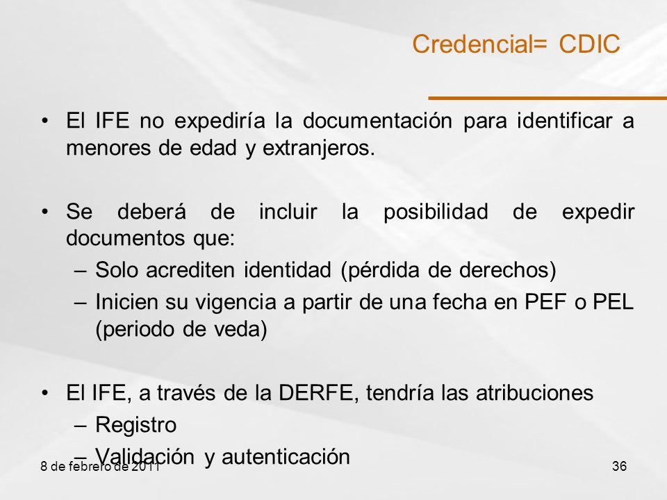 El IFE no expediría la documentación para identificar a menores de edad y extranjeros.