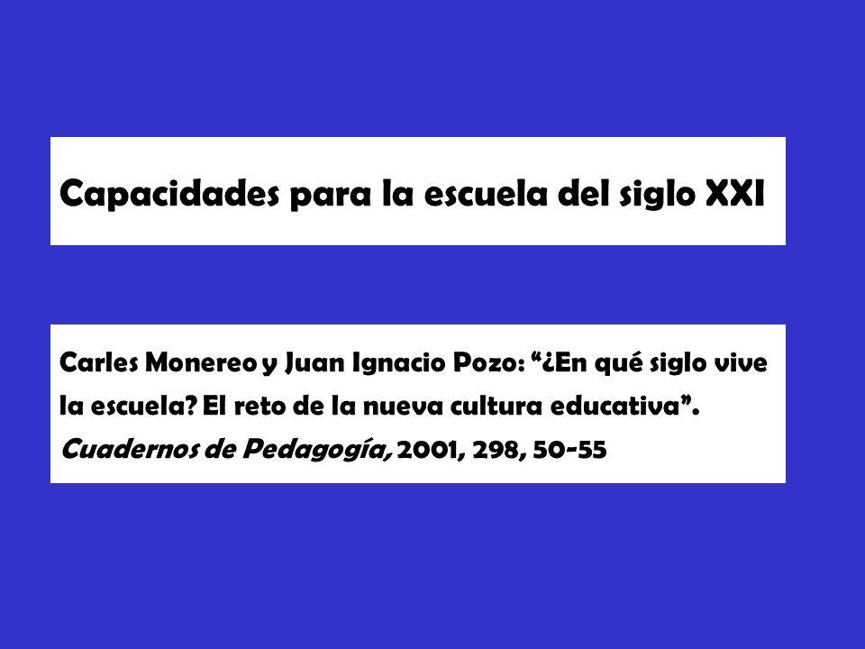 Carles Monereo y Juan Ignacio Pozo: ¿En qué siglo vive la escuela.