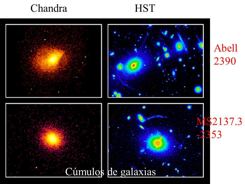 ChandraHST Cúmulos de galaxias Abell 2390 MS2137.3 -2353