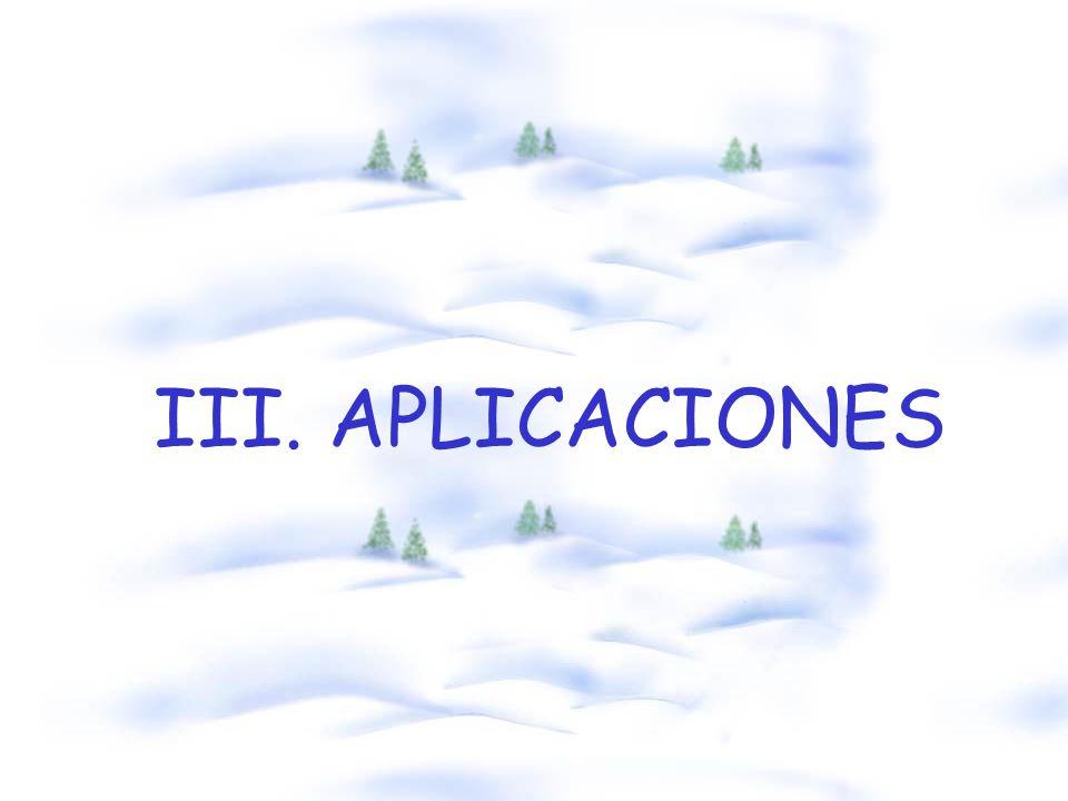 III. APLICACIONES
