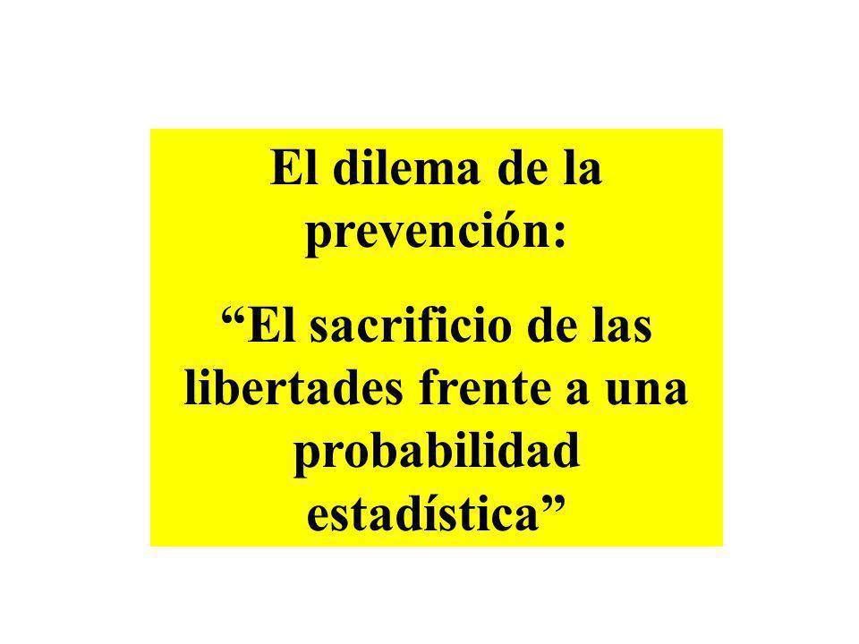 El dilema de la prevención: El sacrificio de las libertades frente a una probabilidad estadística