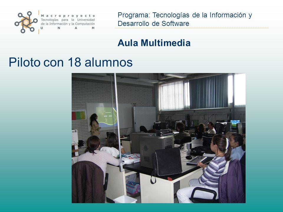 Aula Multimedia Piloto con 18 alumnos