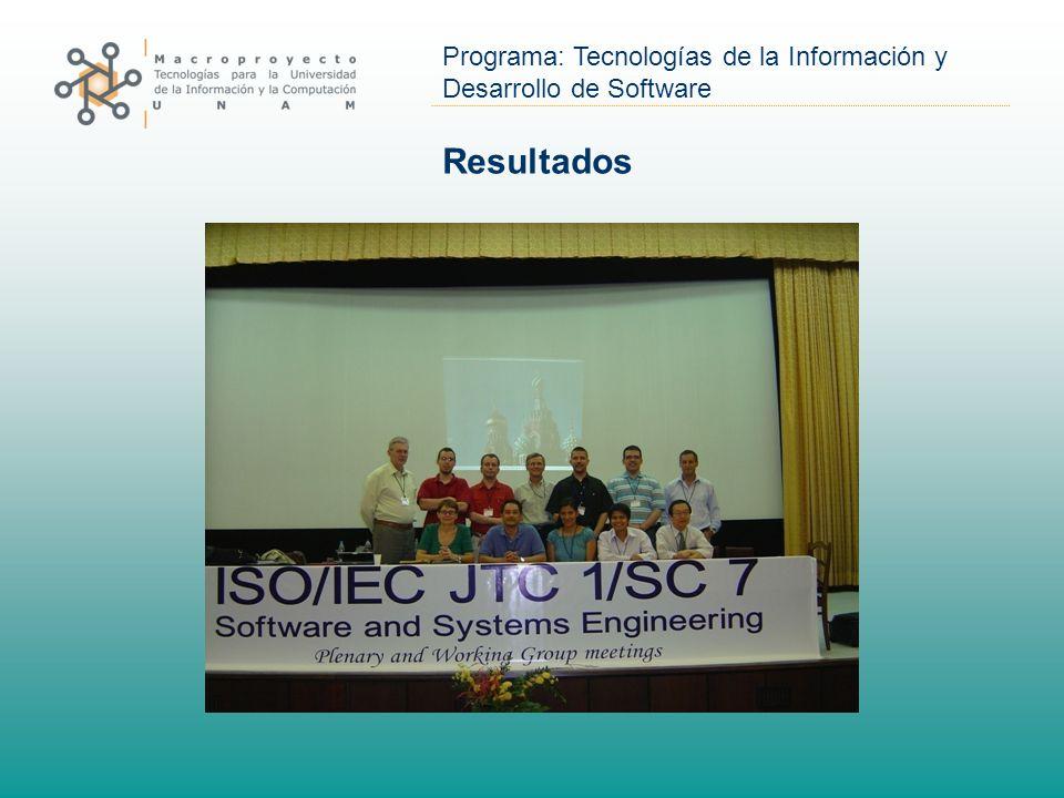 Programa: Tecnologías de la Información y Desarrollo de Software Resultados