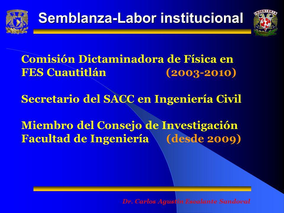 Semblanza-Labor institucional Dr.