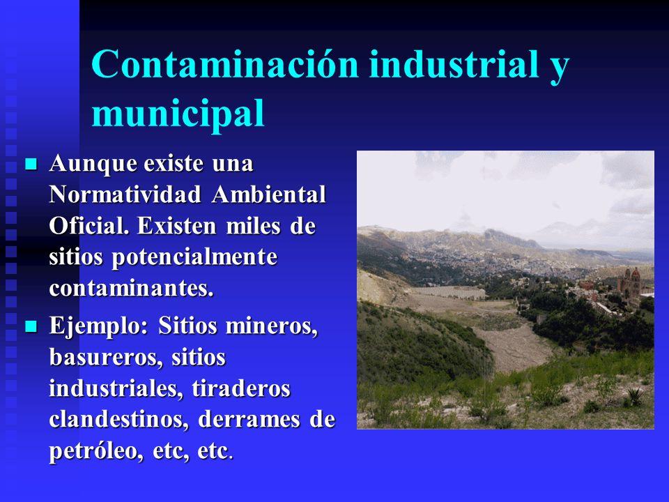 Niveles de contaminación Por increíble que parezca, solo se necesitan unas fracciones de mg/l de algunos elementos para ser contaminantes. Ejemplo: As