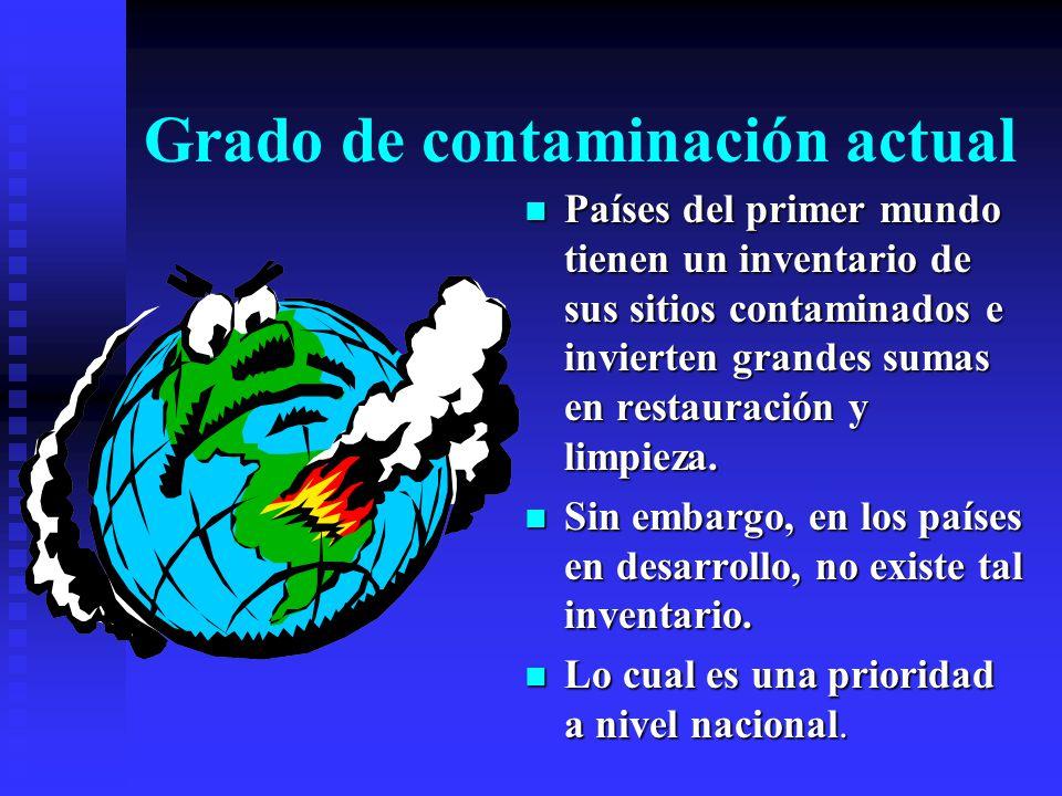 Contaminación industrial y municipal Aunque existe una Normatividad Ambiental Oficial. Existen miles de sitios potencialmente contaminantes. Aunque ex