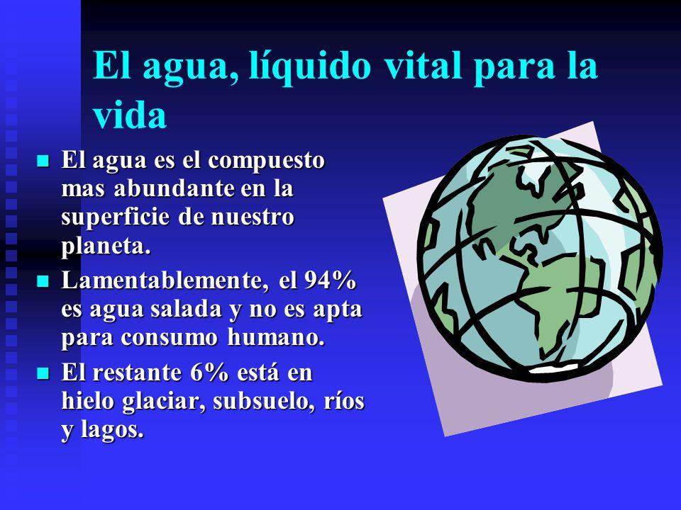 Química del Agua: Implicaciones Ambientales Alejandro Carrillo-Chávez Unidad de Ciencias de la Tierra UNICIT, Campus UNAM- Juriquilla Octubre, 2000