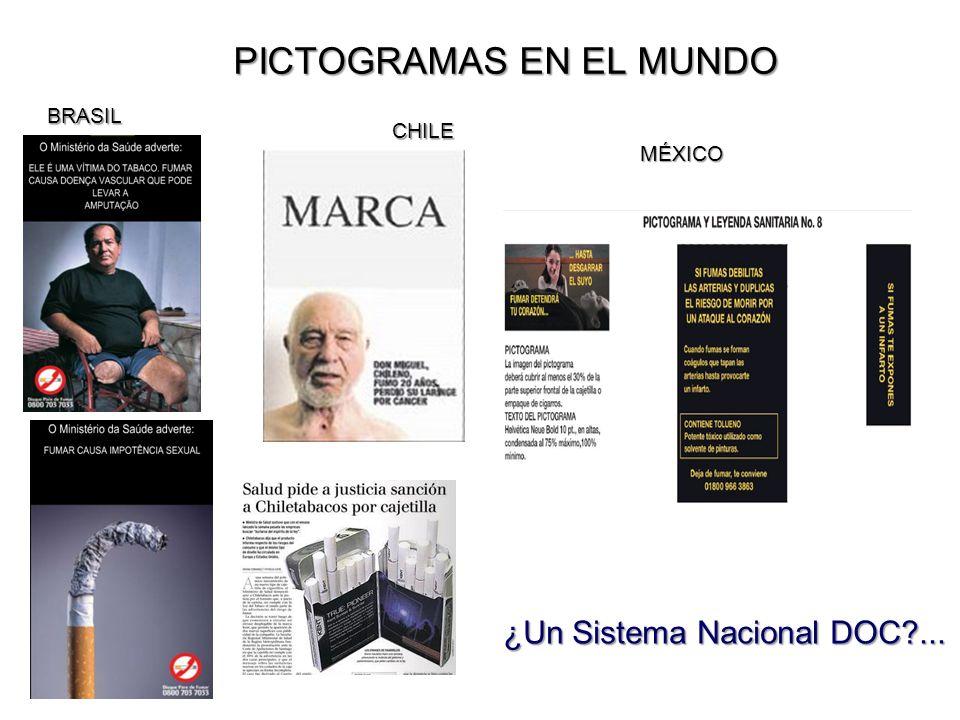 PICTOGRAMAS EN EL MUNDO CHILE BRASIL MÉXICO ¿Un Sistema Nacional DOC?...