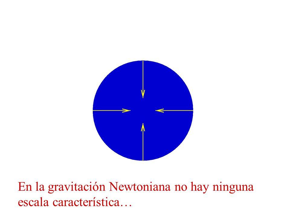 En la gravitación Newtoniana no hay ninguna escala característica…