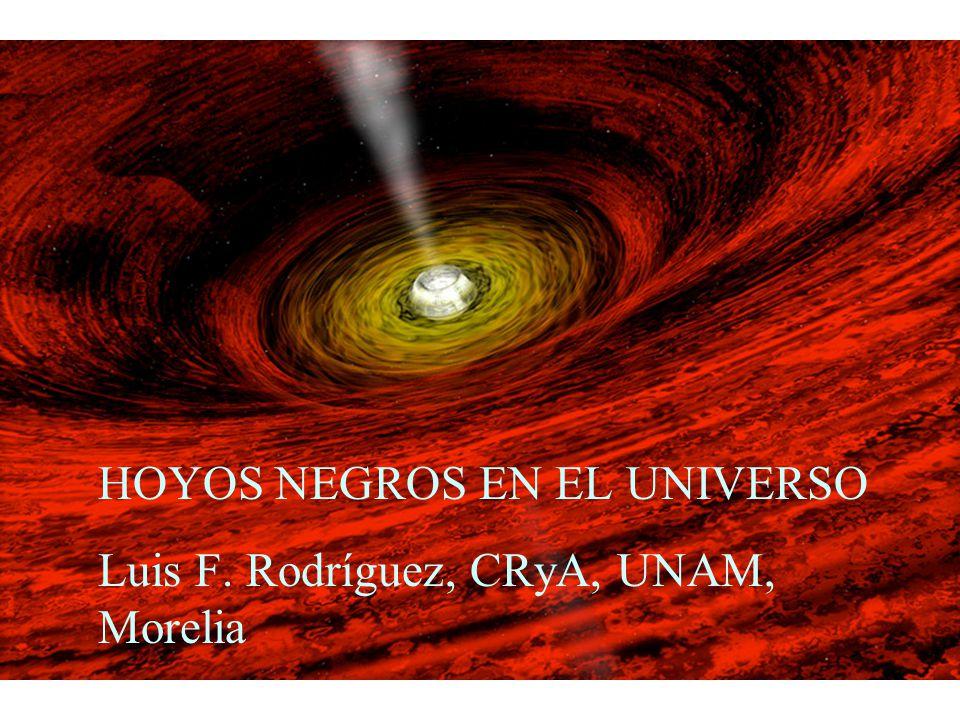 HOYOS NEGROS EN EL UNIVERSO Luis F. Rodríguez, CRyA, UNAM, Morelia