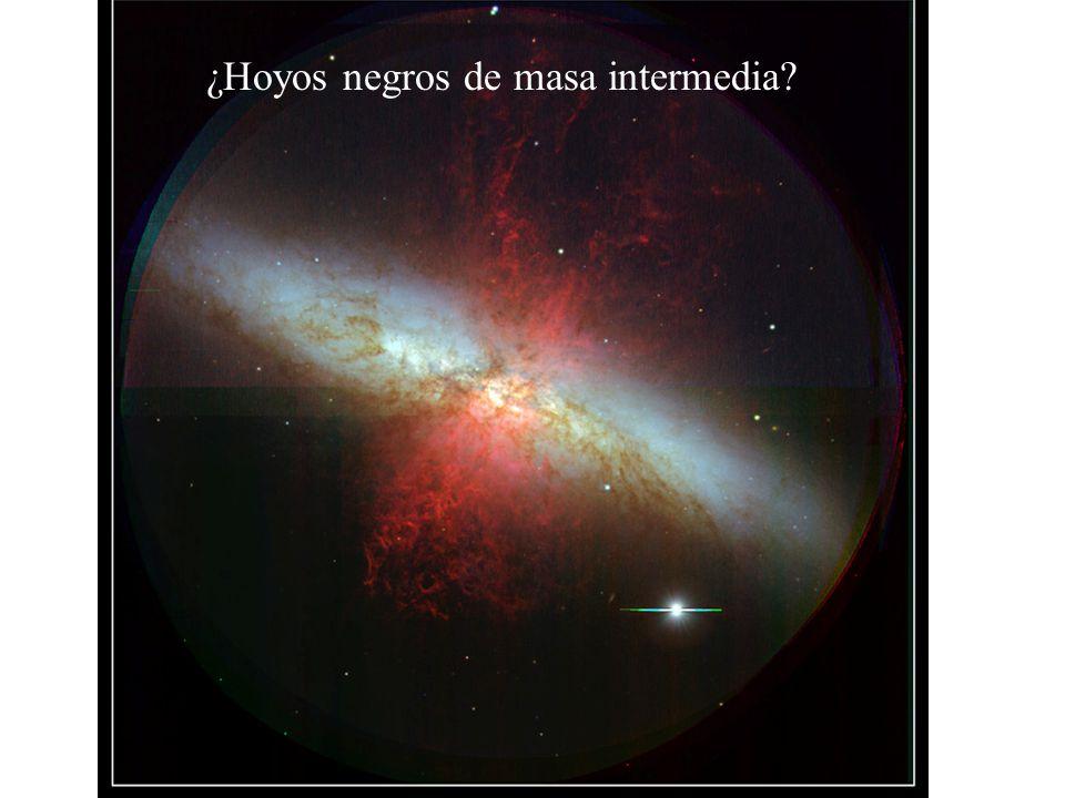 ¿Hoyos negros de masa intermedia